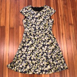 Jcrew Yellow Floral Dress
